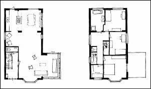 Verschillende verdiepingen Schetsen